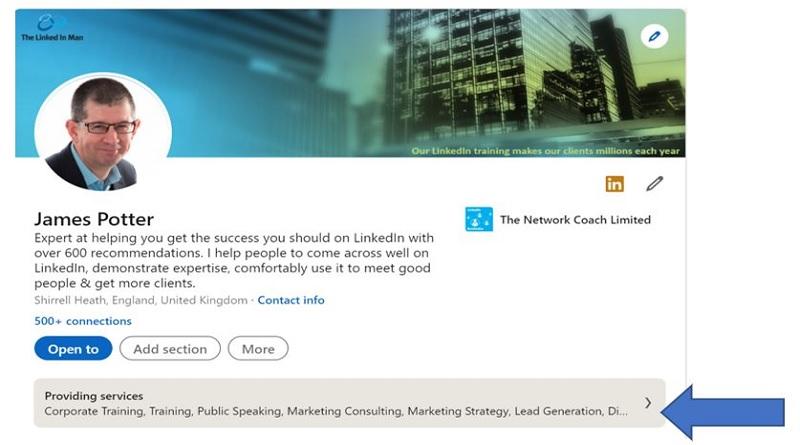 LinkedIn Service Page